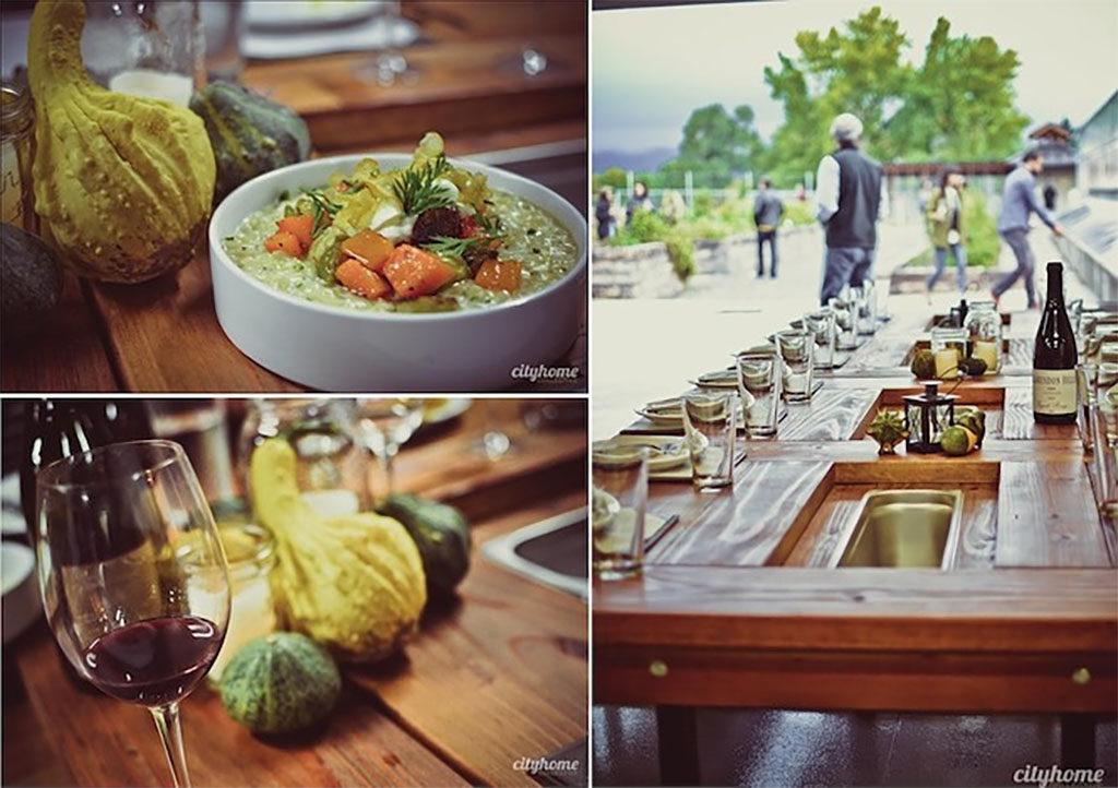 Harvest dinner at Frog Bench Farms (Pago)