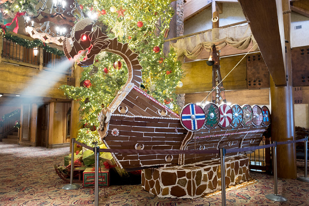 Gingerbread Viking Ship (Stein Eriksen Lodge)