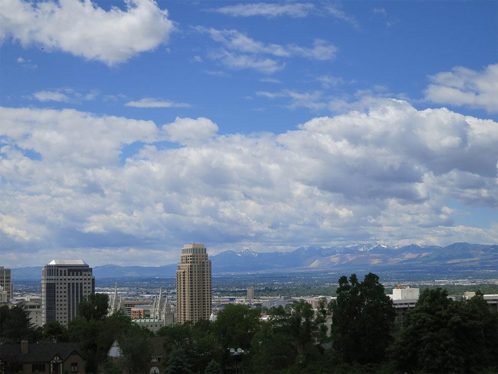 Salt Lake City blue skies