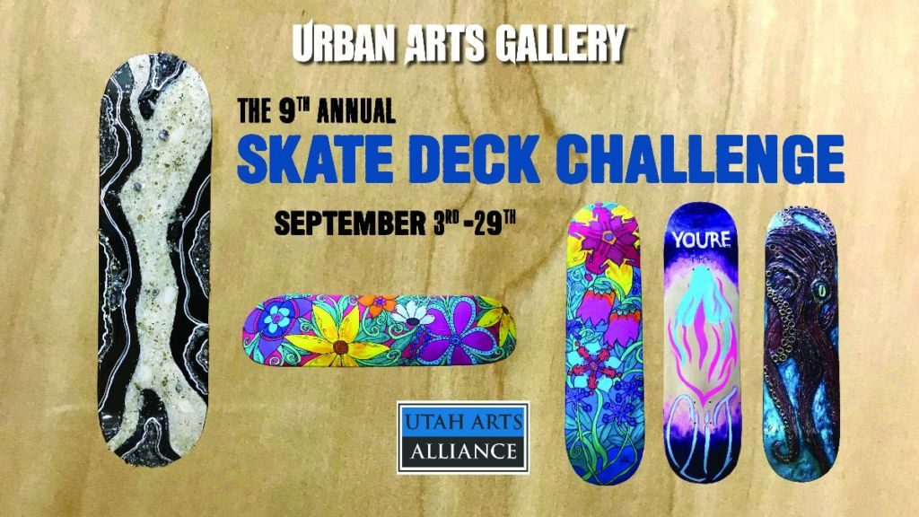 "September at Urban Arts Gallery: ""The 9th Annual Skate Deck Challenge"""