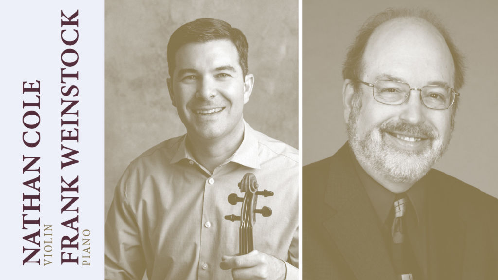 Nathan Cole and Frank Weinstock to Perform at USU