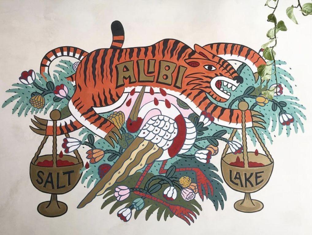 Alibi Bar mural