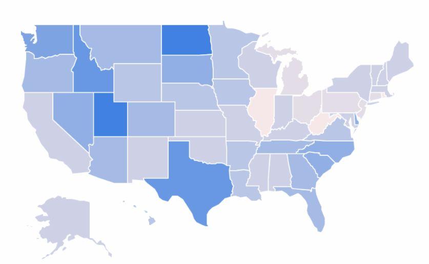 Study finds Utah population grew most in U.S.