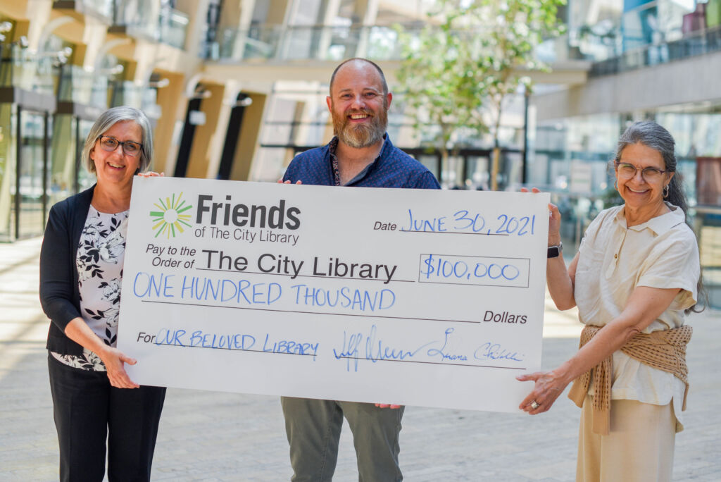 Friends of The City Library Donate $100,000