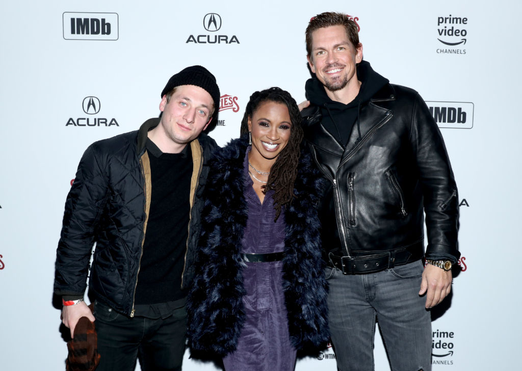 PARK CITY, UT - JANUARY 26:  (L-R) Jeremy Allen White, Shanola Hampton and Steve Howey attend a party hosted by SHOWTIME®, Prime Video Channels, and IMDb to celebrate SHAMELESS at Acura Festival Village on January 26, 2019 in Park City, Utah.  (Photo by Rich Polk/Getty Images for IMDb)