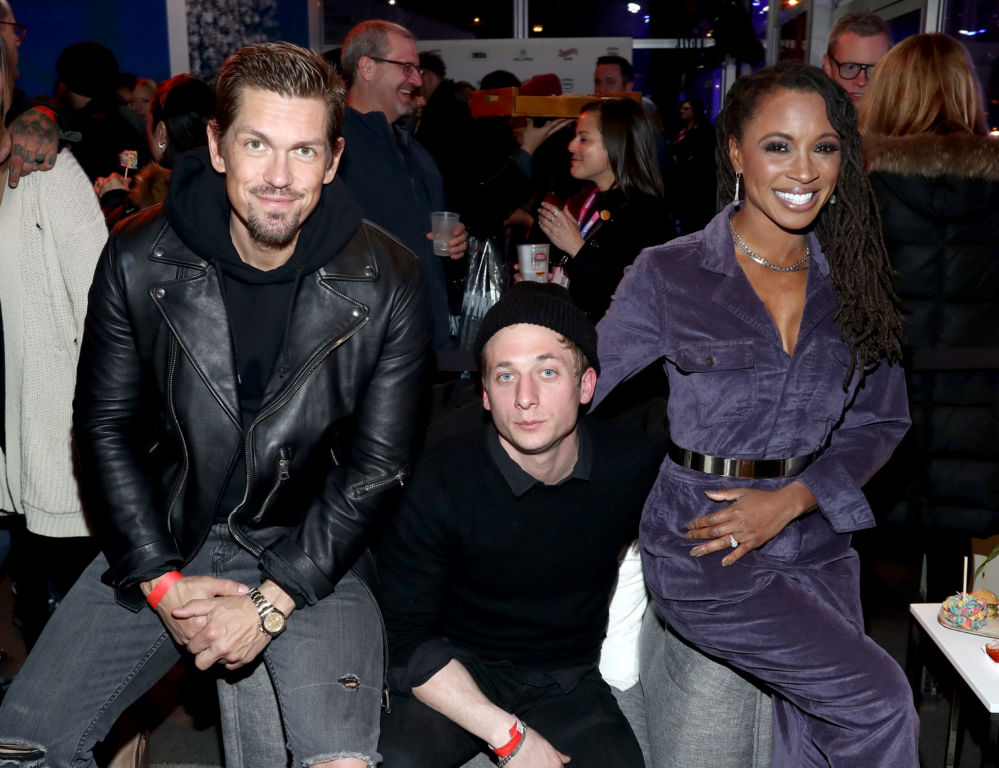 PARK CITY, UT - JANUARY 26:  (L-R) Steve Howey, Jeremy Allen White, and Shanola Hampton attend a party hosted by SHOWTIME®, Prime Video Channels, and IMDb to celebrate SHAMELESS at Acura Festival Village on January 26, 2019 in Park City, Utah.  (Photo by Rich Polk/Getty Images for IMDb)